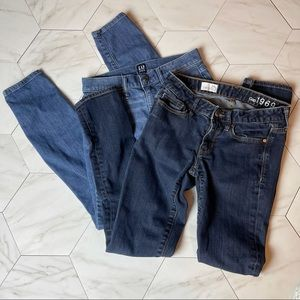 BUNDLE of Two Gap Skinny Jeans, size 24